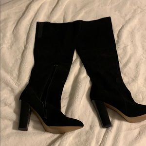 Betsey Johnson Black suede boots 9.5